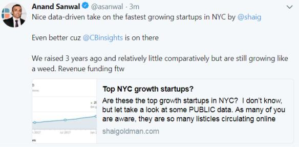 Top NYC growth startups?   Shai's Blog